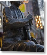 Red Auerbach Chilling At Fanueil Hall Side Metal Print