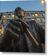 Red Auerbach Chilling At Fanueil Hall Metal Print