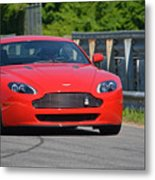 Red Auston Martin Leaving Pit Lane Metal Print
