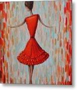 Red Ballerina Metal Print