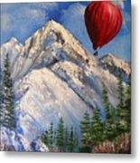 Red Balloon  Metal Print by Crispin  Delgado