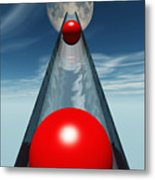 Red Balls From Space Metal Print
