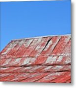 Red Barn And Blue Sky- Fine Art Metal Print