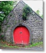 Red Barn Door In Ireland Metal Print