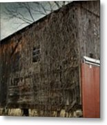 Red Barn Doors Metal Print by Stephanie Calhoun