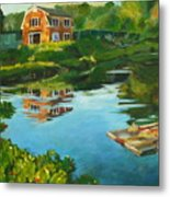 Red Barn In Kennebunkport Me Metal Print