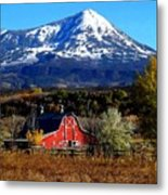 Red Barn In Paonia Colorado Metal Print