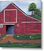 Red Barn In South Dakota Metal Print