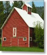 Red Barn Montana Metal Print