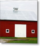 Red Barn- Photography By Linda Woods Metal Print