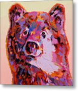 Red Bear Metal Print
