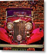 Red Bentley Convertible Metal Print