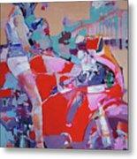 Red Bike Metal Print