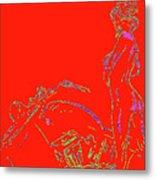 Red Biker Biatch Ps Metal Print