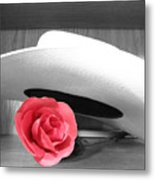Red Black And White Metal Print