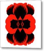 Red Black Botanical Summer Metal Print