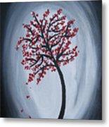 Red Black Tree Painting Metal Print