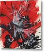 Red Black White Metal Print