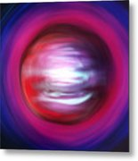 Red-black-white Planet. Twisted Time Metal Print