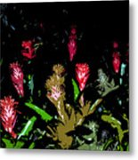 Red Blooms Metal Print
