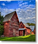 Red Blue And Green Barns At Windsor Castle Metal Print