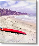 Red Board Metal Print