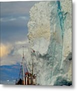 Red Boat Blue Ice Metal Print