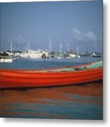Red Boat Mexico Metal Print