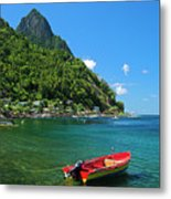 Red Boat- St Lucia Metal Print