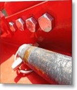 Red Bolt Action Metal Print