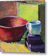 Red Bowl Metal Print