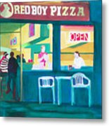 Red Boy Pizza Metal Print