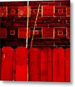 Red Brick And Sticks Metal Print