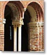 Red Brick Arches Regular Metal Print