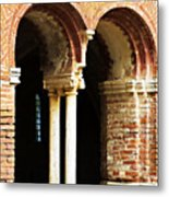 Red Brick Archway Soft Metal Print