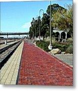 Red Brick Walkway Metal Print