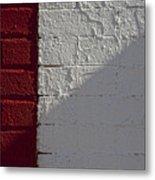 Red Brick White Brick Metal Print by Robert Ullmann