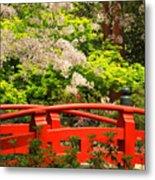 Red Bridge Springtime Metal Print