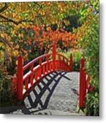 Red Bridge With Shadows Metal Print