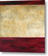 Red Brown And Beige Color Study Metal Print