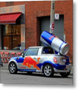 Red Bull Car Metal Print