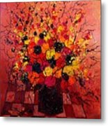 Red Bunch Metal Print