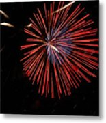 Red Burst Metal Print