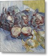 Red Cabbages And Onions Paris, October - November 1887 Vincent Van Gogh 1853  1890 Metal Print