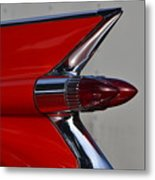 Red Cadillac Fin Metal Print