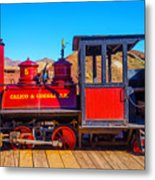 Red Calico Odessa Rr Metal Print