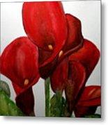 Red Callas Metal Print