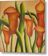 Red Callas Metal Print