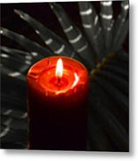 Red Candle Metal Print