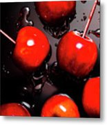 Red Candy Apples Or Apple Taffy Metal Print